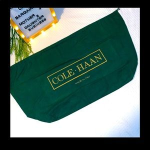 COLE HAAN Italy green cloth 30 x 15.5 dust bag VTG